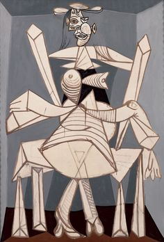 Pablo Picasso - Woman Sitting in a Chair (Dora), 1938