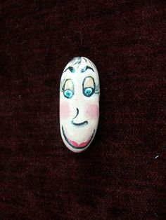 Painted Stone Bert Pebblehead by 2birdstudio on Etsy