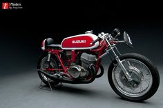 Old School Suzuki Racing Motorcycle