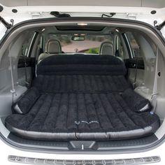 Inflatable Car Bed Back Seat Air Mattress Travel Camping Sleeping PadAir Auto Camping, Camping Snacks, Motorcycle Camping, Truck Camping, Diy Camping, Tent Camping, Camping Guide, Camping Essentials, Backpack Camping