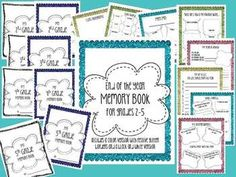 Great End of Year Memory Book for students in grades 2-5!