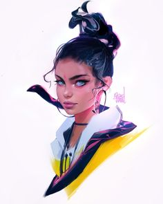 "27.5k Likes, 85 Comments - Ross Tran (@rossdraws) on Instagram: ""Happy Monday! Painted this piece in between editing videos. Thanks for all the love on my last…"""