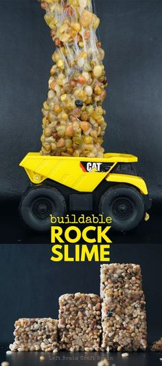 Build-able Rock Slime that actually holds it's shape. (DIY kinetic rock) This is AWESOME!!!!!