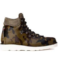 Camo hiking boots.