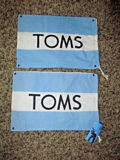Tom's Shoes Bags 2 Each #Toms