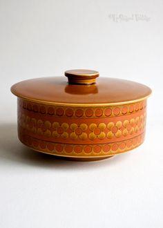 Vintage 1970s Retro Hornsea Pottery 'SAFFRON' Table Veg Tureen Casserole