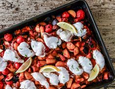 This is tray bake dish, so saving on the washing up and once the veg is chopped, it pretty much takes care of itself. Monkfish Recipes, Skinny Recipes, Skinny Meals, Vegetable Stew, Smoked Salmon, The Dish, Tray Bakes, Seafood Recipes, Easy Meals