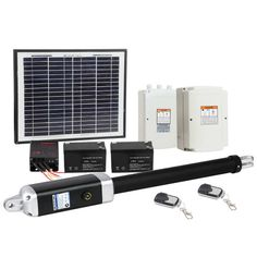 Solar Powered Automatic Swing Gate Opener with 2 Remote ControlsThis automatic gate comes with Polycrustalline solar panel that saves you in energy bill. Solar Gate Opener, Swing Gate Opener, Gate Openers, Small Solar Panels, Automatic Gate, Power Outage, Surefire, Solar Power, Summer Time