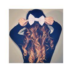 Cute Bow with Ombré Curls xx