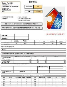 HVAC Form Sample | HVAC Invoice Templates | Pinterest