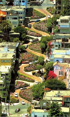 Lombard Street, in San Francisco, California.
