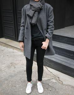 greys + black + white sneaks