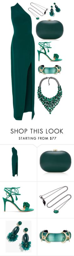 """""""Teal"""" by cherieaustin on Polyvore featuring Brandon Maxwell, Jeffrey Levinson, Gianvito Rossi, J.Crew and Alexis Bittar"""