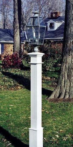 Fluted Style Cedar Lantern Post