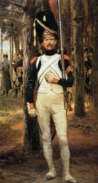 Vive Empereur, Edouard Detaille Edouard Detaille, Self-portrait Wars have been going on since the first Neanderthal heaved a . Military Units, Military Art, Military History, Military Insignia, Military Figures, Military Uniforms, Edouard Detaille, First French Empire, Battle Of Waterloo