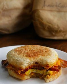Freezer Prep Breakfast Sandwiches