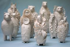 ceramic artist animals mythical Sophie Woodrows Porcelains.