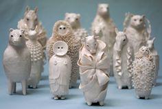 ceramic artist animals mythical Sophie Woodrows Porcelains.