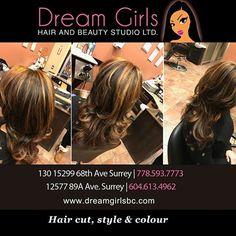 Hair cut, style & colour  #dreamgirlsbeauty #beautystudio #beautylounge #salon #beautysalon #laser #facial #esthetician #hairstyles #updo #makeupartist #makeup