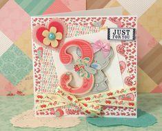 Tiny Tatty Teddy 3rd birthday for a girl card by Maxine
