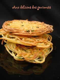 Galettes de spaghettis au persil