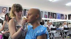 Aplicación de calva de Glatzan para cine y envejecimiento con OSP. Práctica de los alumnos del Máster de Maquillaje Profesional 2015 de nuestra escuela Aarón Blanco Make Up Studio.