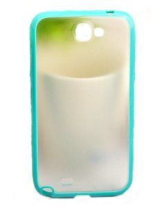 Hard and soft color protection shell for Samsung N7100 Note2 (sky blue)