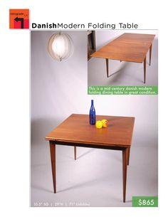 Danish Modern Folding Teak Dining Table