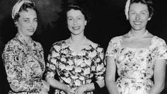 Princess Ragnild (left) and Princess Astrid (right) of Norway with their 2nd cousin, Queen Elizabeth II
