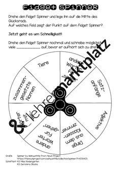 Welcher Spinner dreht sich am längsten? Wer findet die meisten Begriffe?Mit dieser Vorlage werden die Fidget Spinner in den Unterricht integriert und die Inhalte des Deutschunterrichts spielerisch geübt.Mit der Blankoversion könnt ihr die Inhalte für eure Zwecke anpassen.