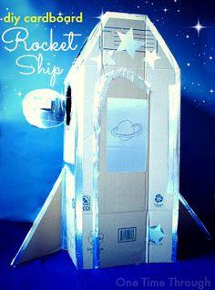DIY Cardboard Rocket Ship