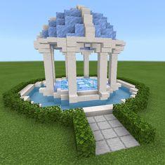 Minecraft Ice Castle, Minecraft Epic Builds, Minecraft Shops, Minecraft Statues, Minecraft Structures, Easy Minecraft Houses, Minecraft House Tutorials, Minecraft Room, Minecraft Plans
