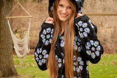 Crochet Hooded Jacket Lots Of Free Patterns