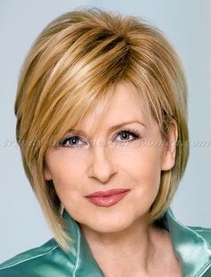 short hairstyles over 50, hairstyles over 60 - layered short bob haircut | trendy-hairstyles-for-women.com