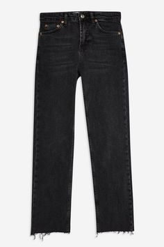 These high rise, straight leg jeans in washed black low stretch denim are every girl's staple jeans. With raw hem detail adding edge, the classic cut can be paired with a shirt and cardigan to get smart-casual down. Tall Clothing, Clothing Sites, Petite Fashion Tips, Petite Outfits, Tall Jeans, Black Jeans, Asos, Topshop, Jeans Price