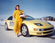 Car 108 - 27th race car - 1991 Nissan 300ZX Turbo 1991 - World of Speed 9-14-69 - Ellen ran 159.354 MPH.  Rules of the club dictate you cannot run over 160 (due to some safety requirements) to gain membership in the club.  Ellen really pushed the limit!  The Z was so quick she had to back off before the second timing light.
