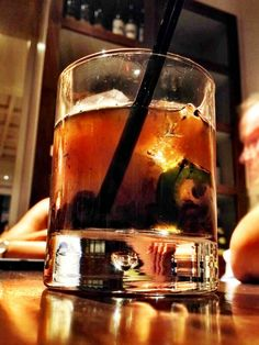Jalepeno burnt cherrywood old fashioned at Clio in Boston!