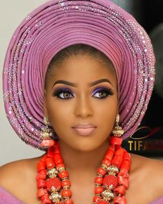 Hitherto, We all know that showing out your Beauty either by tying different styles of gele or making-up yourself with different makeover items br. African Beauty, African Women, African Fashion, Fashion Women, Women's Fashion, African Attire, African Dress, Wedding Makeover, Nigerian Bride