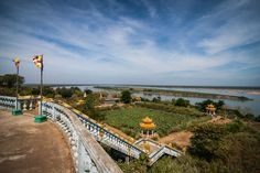 Phnom Hanchey on the Mekong, in Kampong Cham, Cambodia