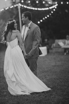 beautiful evening bridal portrait