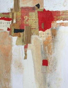 Take 2 by Lauren Daddona, collage on handmade paper