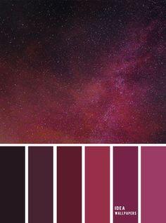100 beautiful color palette - Red Violet sky color scheme, color combination #colors #redviolet #color #colorscheme Red Color Combinations, Purple Color Schemes, Purple Color Palettes, Red Colour Palette, Paint Color Schemes, Combination Colors, Color Red, Purple Palette, Hair Color