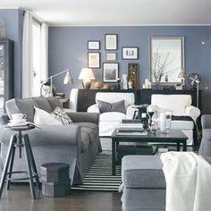 Living Room; Ikea EKTORP furniture, tonal, layout