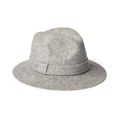 Gap Women Flat Brim Wool Fedora ($40) ❤ liked on Polyvore featuring accessories, hats, heather grey, regular, fedora hats, wool fedora hat, flat hat, band hats and wool hat