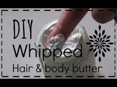 DIY: whipped hair & body butter maken van shea butter, cacaoboter & amandelolie - YouTube