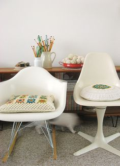 craftiness & mid century modern. big love.