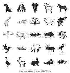 Animal icons set. Animal icons simple. Animal icons. Animal set app. Animal set vector. Animal set eps. Animal icons UI. Animal icons sign. Animal icons art. Animal set. Animal set logo. Animal set.  - stock vector