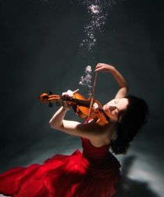 View top-quality stock photos of Woman Playing Violin Underwater Elevated View. Find premium, high-resolution stock photography at Getty Images. Breathing Underwater, Underwater Photos, Underwater World, Underwater Photography, Amazing Photography, Underwater Music, Violin Photography, Film Photography, Street Photography