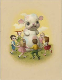 "Mark Ryden. I have this print! This is ""sweat"". It's part of a set of 3."