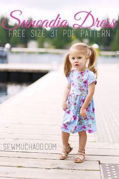 e8817040949 FREE knit dress pattern for girls! This is perfect for summer!  Suncadia  Dress